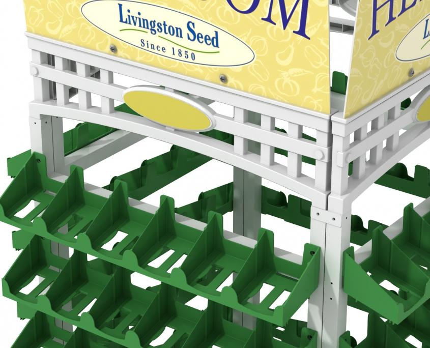 Livingston Seed P.O.P. Display